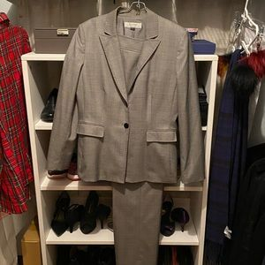 Tahari Grey Pinstripe Woman's Business Suit